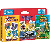Children's Card Games - Jungle Snap, Pairs on Wheels & Happy Families by Cartamundi