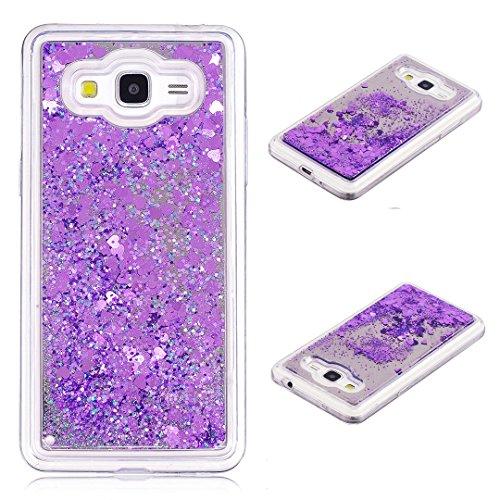 Galaxy Grand Prime SM-G530 Hülle, Xf-fly Samsung Galaxy Grand Prime SM-G530 G531F Glitzer Hülle TPU Tasche 3D Bling Schutzhülle Funkeln Quicksand Glitter Case Cover Kratzfest Bumper Handyhülle -