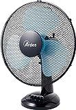Ardes AR5EA40 EASY 40 Ventilatore da Tavolo Pala 40 cm 3 Livelli di Velocità, Total Black