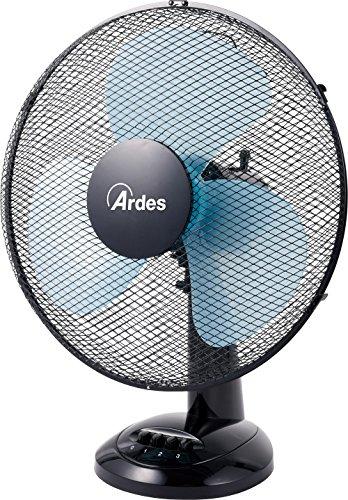 Ardes AR5EA40 Ventilatore da Tavolo, Nero, Pala 40 cm