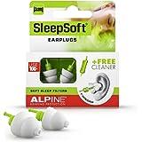 Alpine SleepSoft Ohrstöpsel - Blockiert Schnarchen und verbessert den Schlaf - Soft-Filter zum Schlafen – Bequemes, hypoaller