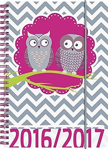 Brunnen 107297917 Schülerkalender/Schüler-Tagebuch (2 Seiten = 1 Woche, 14,8x21cm (A5), PP-Einband Eule, Kalendarium (Dezember Kalender 2016 Weihnachten)