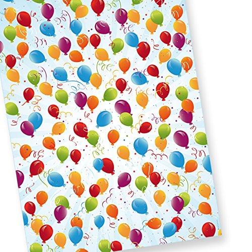 PREMIUM Geschenkpapier Geburtstag (10+3 Bogen extra) AKTION JETZT 30% MEHR, Format 50 x 70 cm (gefalzt auf 25 x 35 cm), für Party und Kinder