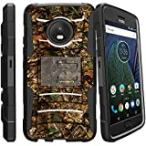 Rugged Heavy Duty Clip Cover For [Motorola Moto G5 Plus Holster Case| Moto G5 Plus Case][Clip Armor] Kickstand And Holster Shell By Miniturtle - Hunting Leaves Camo