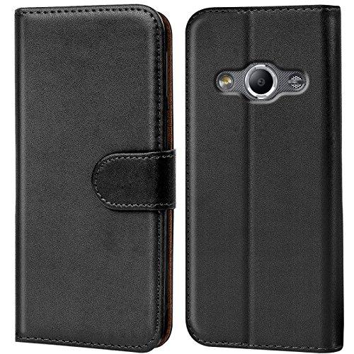 Conie Handyhülle für Samsung Galaxy Xcover 3 - Bookstyle- Klapp- Serie, Etui aus PU Leder, Booklet Flip