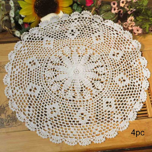 kilofly-centrini-in-cotone-all-uncinetto-confezione-da-4-pezzi-persia-cotone-white-17-inch-white