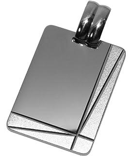 Massiv Sterling Silber Set Herren Gravurplatte mit breiter