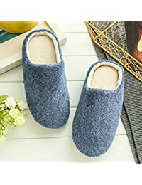 Navy, 8.5 : 2017 Indoor House Slipper Soft Plush Cotton Cute Slippers Shoes Non-Slip Floor Home Furry Slippers...
