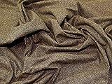 Kleiderstoff, Seide und Wolle, Meterware, Braun