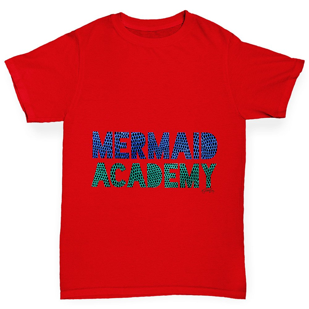 TWISTED ENVY Mermaid Academy Girl's Printed Cotton T-Shirt, Comfortable and Soft  Classic Tee With Unique Design: Amazon.co.uk: Clothing