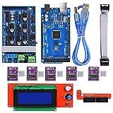 Biqu MEGA2560Control Board + LCD 2004Graphic Smart display controller Module + rampe 1.6Mega Shield + DRV8825Stepstick stepper con dissipatore di calore per stampante 3D Arduino RepRap