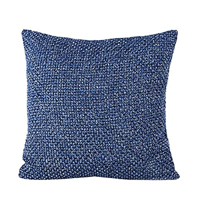 Yistu Pillow Case,Soft Luxury Corduroy Sofa Bed Cushion Cover 45cm*45cm - low-cost UK light shop.