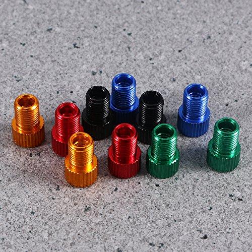 WINOMO Fahrrad Ventil Adapter 10 Stücke Aluminium PRESTA SCHRADER Konverter Auto Fahrrad Schlauchpumpe Kompressor Werkzeuge - 6