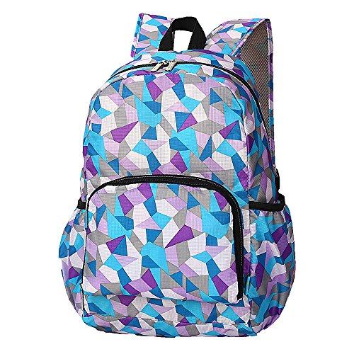 Ranbow Colorful zaino Super Light sacchetto pieghevole Viaggi Daypack 23L, Verde Blu scuro