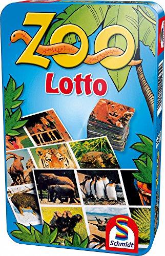 Schmidt Spiele 51230 Lotto: Zoo Lotto in Metalldose (Spiele Zoo Tier)