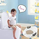 Xuendao Potty Training Kids Toddlers Baby Boys Girls Cushion Handle Backrest Toilet Seat Travel essentials Foldable