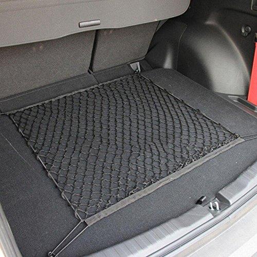 60x60cm Auto Netz 8 Haken flexibel Nylon Auto Kofferraum Universal-Auto-Netz Aufbewahrung Schutznetz Gepäcknetz Universalgröße für alle Fahrzeugtypen Kombi SUV Elastisch-Nylon Kofferraum-Netz Auto-Gepäcknetz Ladungs-Netz
