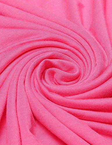 Unibelle Damen Baumwolle Kurzer Ärmel Nachthemden Nachtwäsche A-Line Nachtkleid Mit Spitze Nachthemd Pfirsich