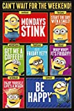 Despicable Me - 3 - Cant wait for the weekend - Ich, einfach unverbesserlich Minions Kinder Poster - Grösse 61x91,5 cm + 1 Ü-Poster der Grösse 61x91,5cm