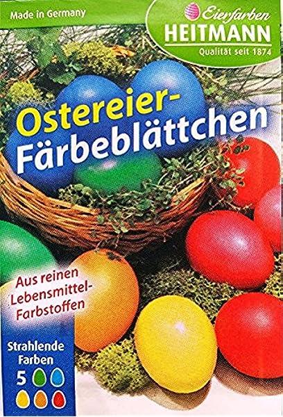 25x Ostereier Färbeplättchen Farben für Ostern Eier Ostereier Ostereierfarben