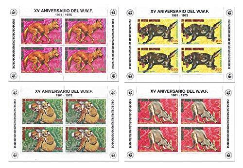 la-natura-animale-timbro-wwf-world-wildlife-fund-fissato-per-i-collezionisti-con-16-francobolli-su-4