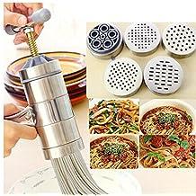 GossipBoy Acciaio inossidabile Macchina per la pasta pasta maker noodles maker (1 x Maker + 5 x Template )
