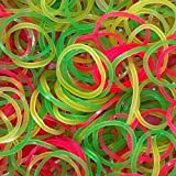 Paraspapermart PPM Rubber Band for Offices/Home/Kitchen Use (Fluorescent Colour, 1 inch) - Pack of 50 gm