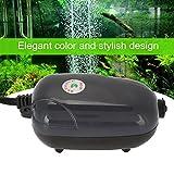 Estink Luftpumpe Ultra Silent Oxygen Luftpumpe für 120 Gallonen Aquarium(Black)