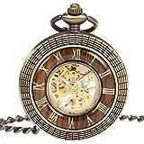 Reloj de Bolsillo con Cadena - Mecánico Manchda para Hombre,...