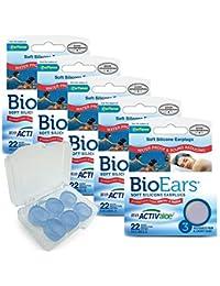Bio Ears Soft Silicone EarPlugs Protection - 3 Pairs (15 Pairs (5 Pks))