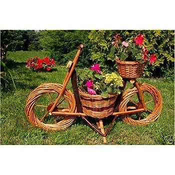 fahrrad motorrad aus korbgeflecht 70cm rattan weidenk rbe bepflanzen m glich fahrrad bike. Black Bedroom Furniture Sets. Home Design Ideas
