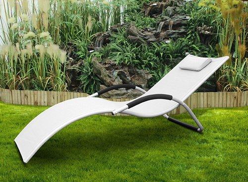 Lettino da esterno in alluminio textilene sdraio for Sdraio da giardino ikea