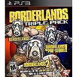PS3 BORDERLANDS TRIPLE PACK + Tutti add on Box UK Giochi In ITALIANO