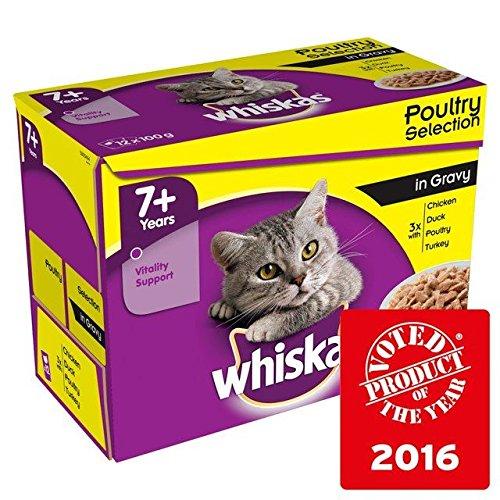 Whiskas 7+ Pollame in salsa 12X 100G (Confezione da 2)