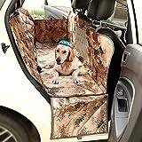 Autoschondecke fuer Hunde Wasserdicht Einfache Reinigung Rutschfeste Hängematte Haustier Sitzbezug für Autos mit Extra Seitenklappen Hund Sitzbezüge für Autos Lastwagen und SUV (137x147cm)