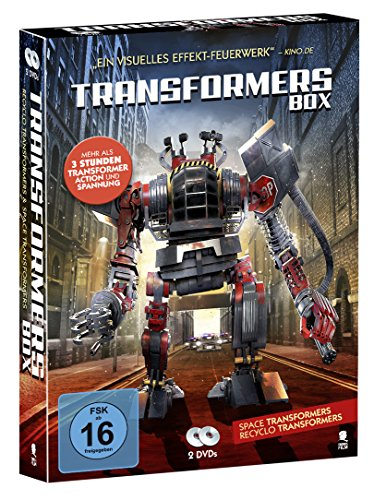 Transformers Box mit 2 DVDs (Transformer Action und Spannung: Space Transformers & Recyclo Transformers)