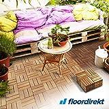Floordirekt 11 er Set 1 qm Klickfliesen | Ranger | Akazienholz | Braun 30 x 30 cm