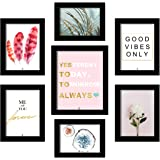Painting Mantra Set of 7 Motivational Theme Art Print, Painting for Home Decoration Size- 5x7 , 6x8, 8x10 Inches