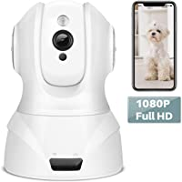 YOHOOLYO 360° 1080P Full HD Security Camera Wireless WiFi with Infrared Night Vision/Motion Detect/Alert Mobile Remote/Two-Way Audio/Plug and Play
