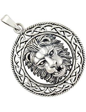 Löwenkopf Anhänger aus 925-Silber