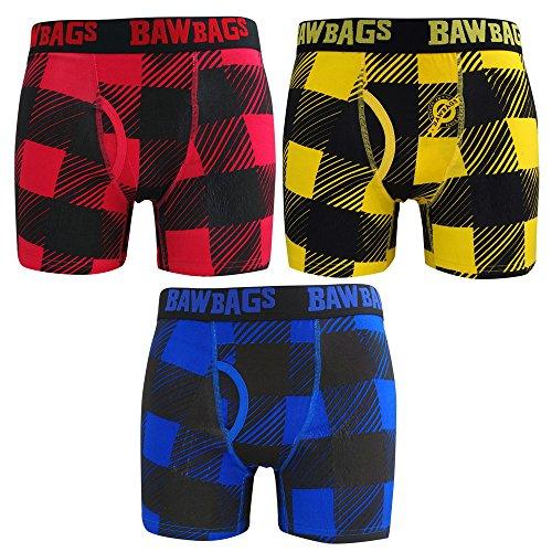 Bawbags Underwear - Bawbags 3 Pack Plaid Boxer ... (Herren-boxer-unterwäsche-plaid 3)