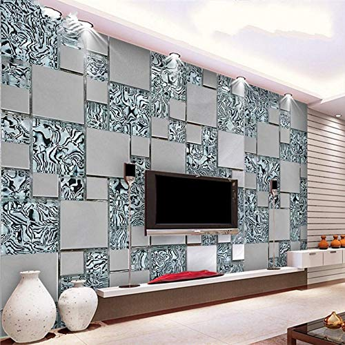 Mural 3D fototapete große Mural Business Mode Box Metall Cafe Restaurant Thema Hotel Hintergrund Mural tapete, 400 * 280 cm ()
