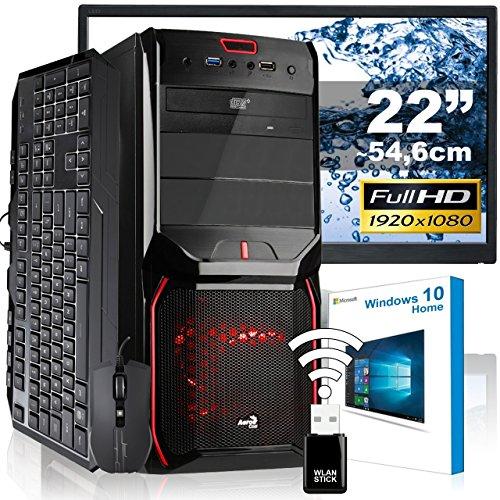 8320 Usb (AGANDO Silent Gaming PC-Komplettpaket | AMD FX-8320 8x 3.5GHz | GeForce GT730 4GB | 8GB RAM | 1000GB HDD | DVD-RW | USB3.0 | 55cm (22