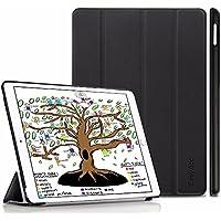 Neues iPad 9.7 2018/ 2017 Hülle, EasyAcc Ultra Dünn iPad 2018/ 2017 9.7 Zoll Smart Cover mit Automatischem Schlaf Funktion und Standfunktion - Hochwertiges PU Leder Hülle (Schwarz, Kunstleder, Ultra Dünn)
