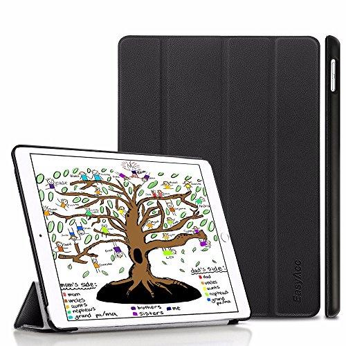 Neues iPad 9.7 2018/ 2017 Hülle, EasyAcc Ultra Dünn iPad 2018/ 2017 9.7 Zoll Smart Cover mit Automatischem Schlaf Funktion und Standfunktion - Hochwertiges PU Leder Hülle (Schwarz, Kunstleder, Ultra Dünn) (Ipad Case Silikon)