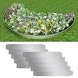 Festnight Rasenkante Beeteinfassung Wegbegrenzung aus Stahl 100 x 15 cm 10er Set