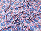 Geometrische Print Viskose Challis Kleid Stoff