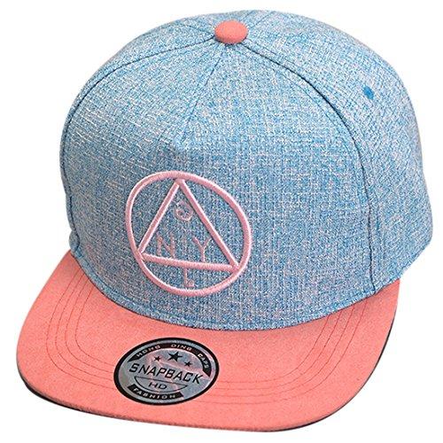 Belsen Kind Hip-Hop Dreieck Muster Cap Baseball Hut (Kind, blau)