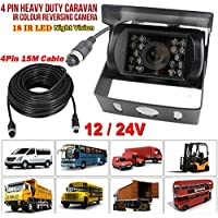 12 V-24 V 4 pines Bus camión remolque Heavy Duty 18 LED IR visión
