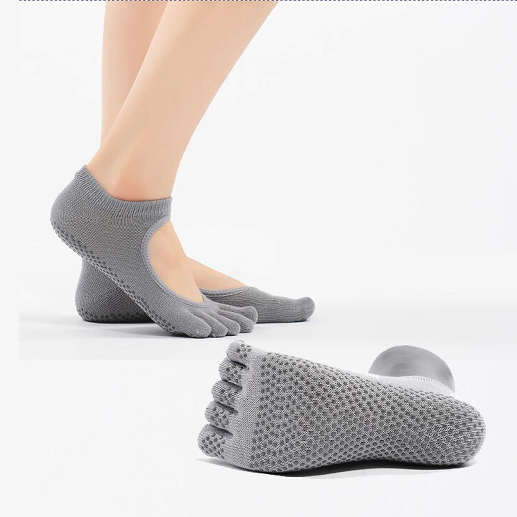 Ckssyao Yoga Socken, Strick, Damen, Slip Open Back, Sportsocken aus Baumwolle, atmungsaktiver Schweiß, Geeignet für…